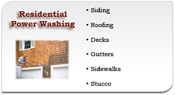 Main Line Residential Power Washing Services